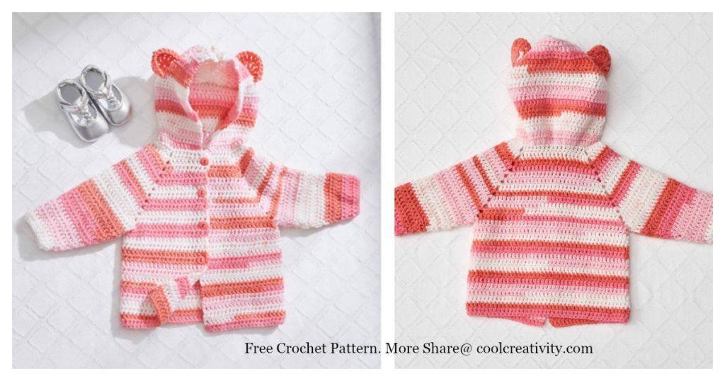 757380394e8a Baby Bear Hoodie Sweater Free Crochet Pattern (Cool Creativity ...