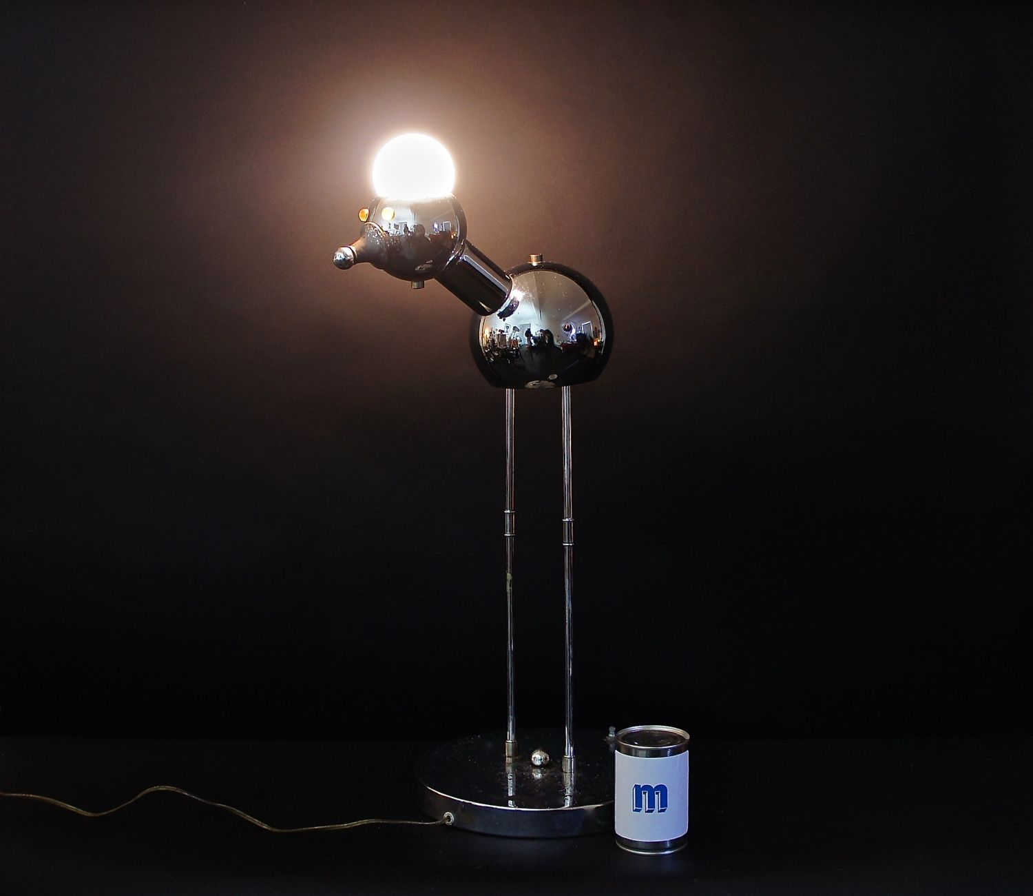 Torino Bird Robot Lamp Robot Lamp Lamp Chrome Lamp