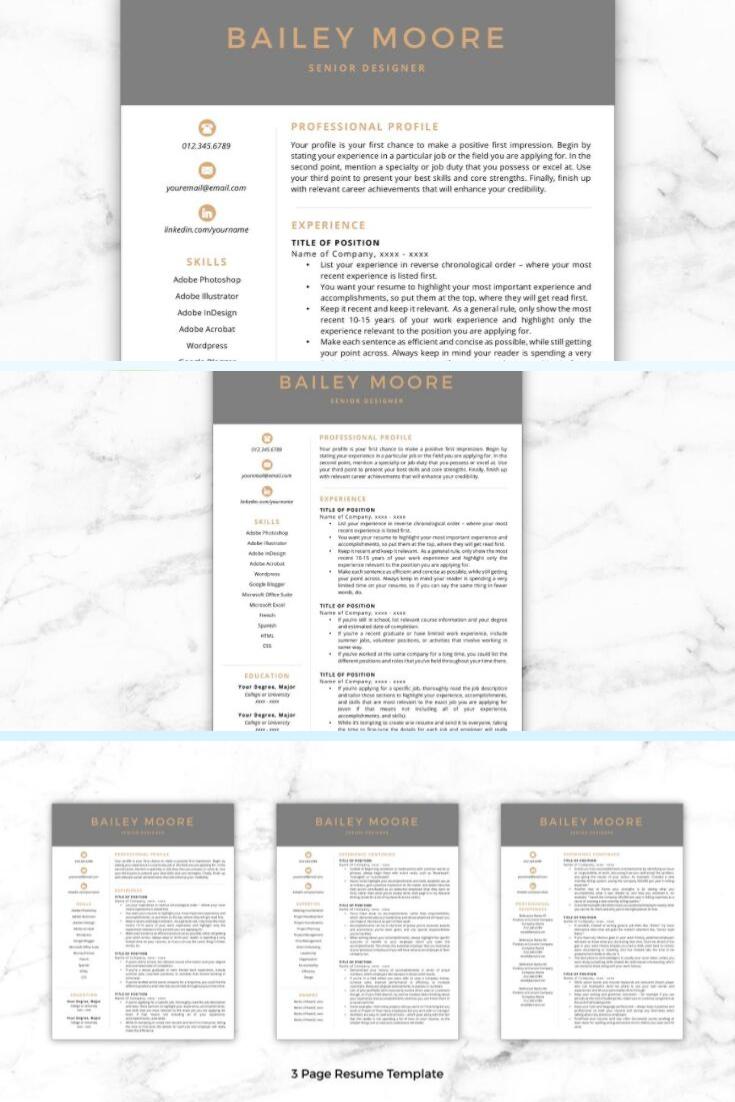 CV Template/Resume Bailey Resume words skills, Resume