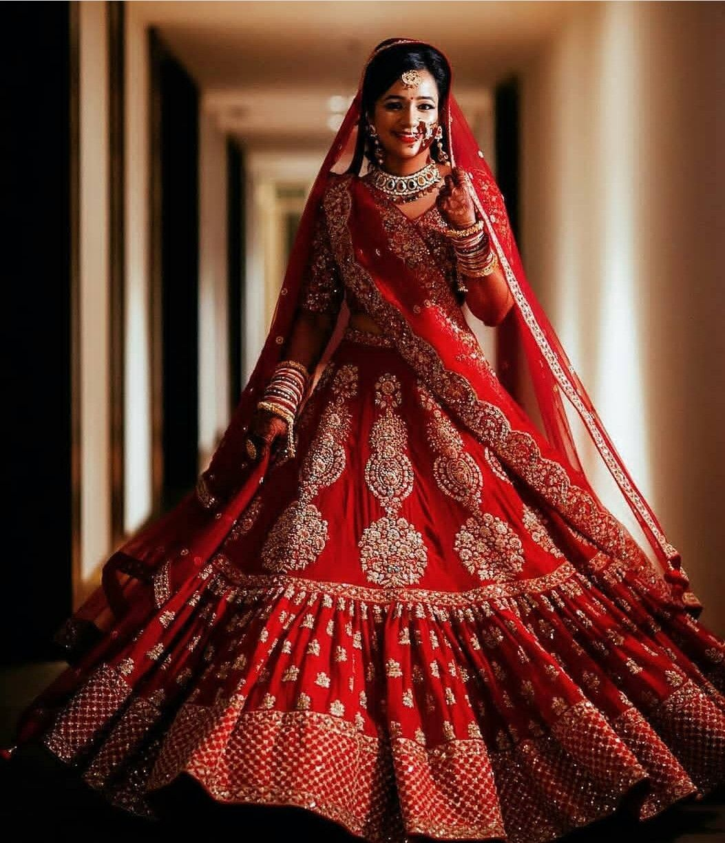 Beautiful India Wedding outfits #Lehenga #saare #gown #outfits