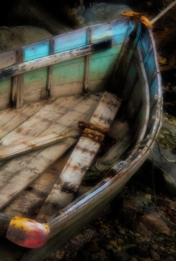 Old Boat 2 Stonington Maine by David Smith