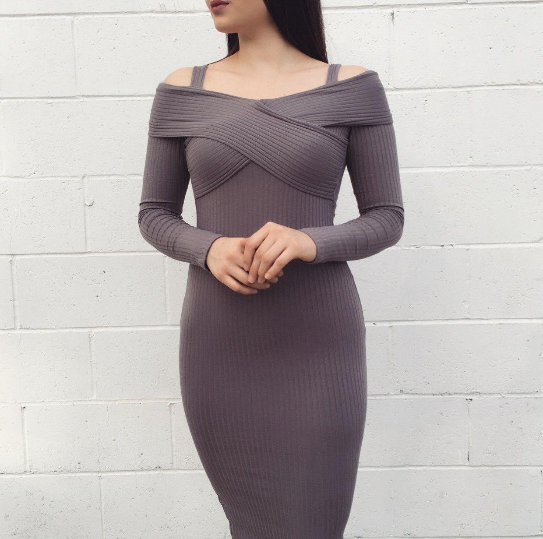Silvia Gray Dress