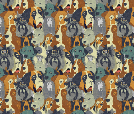 Canine Wallpaper fabric by demigoutte on Spoonflower - custom fabric