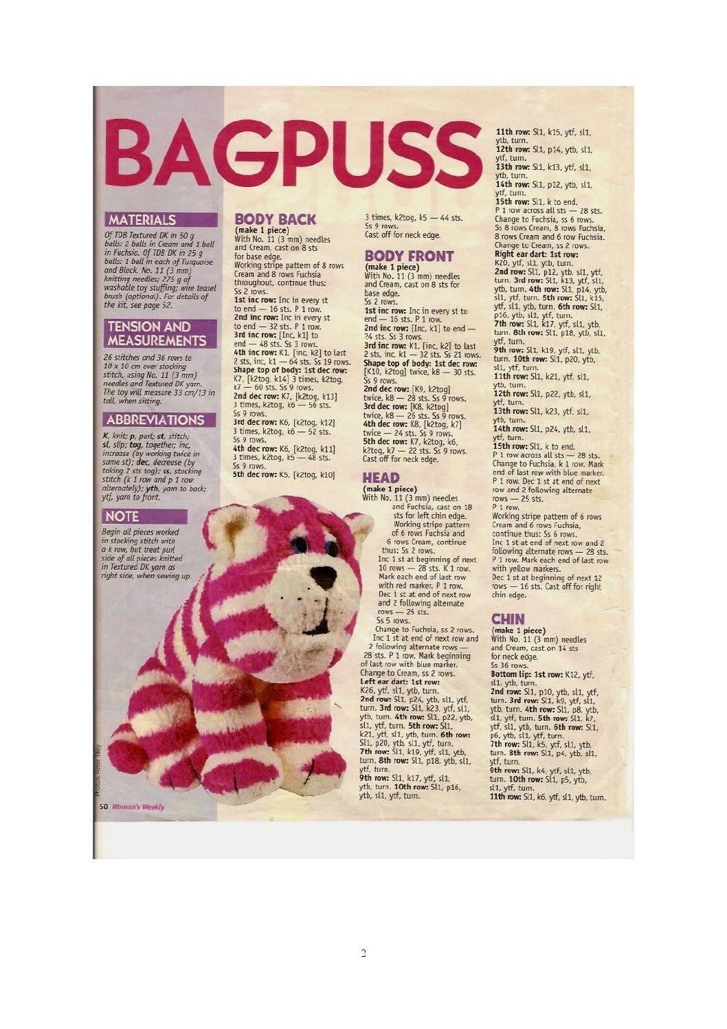 Knit alan dart bagpuss (sitting) | knitting | Pinterest