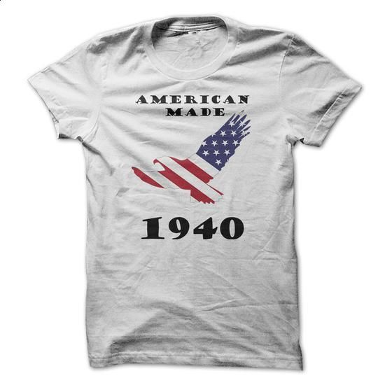 American Made in 1940 - #basic tee #tshirt women. ORDER HERE => https://www.sunfrog.com/States/American-Made-in-1940.html?68278