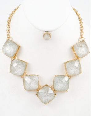 Square Statement Necklace
