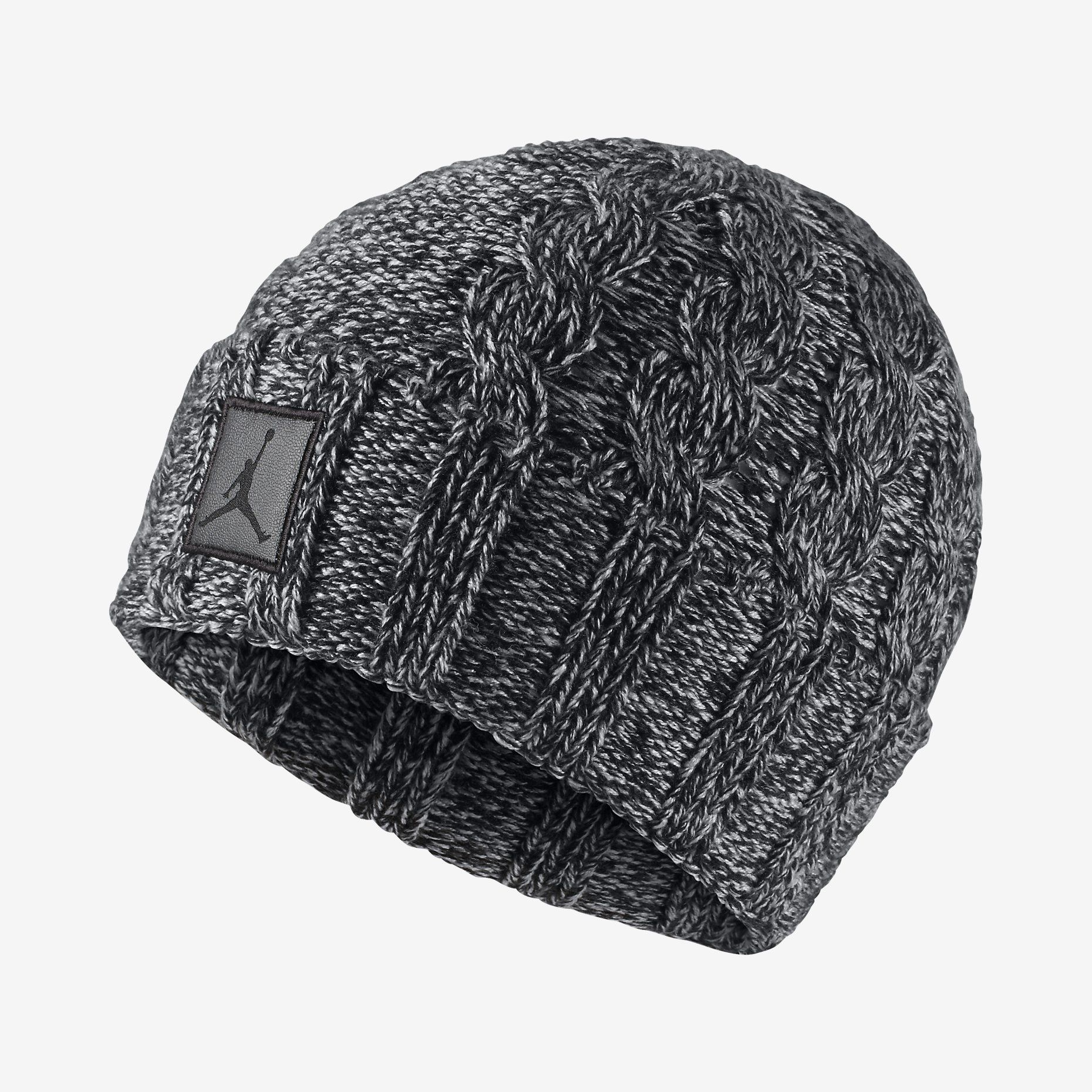 c12ba495 Jordan Heathered Cable Knit Hat. Nike Store UK | Sports accessories ...
