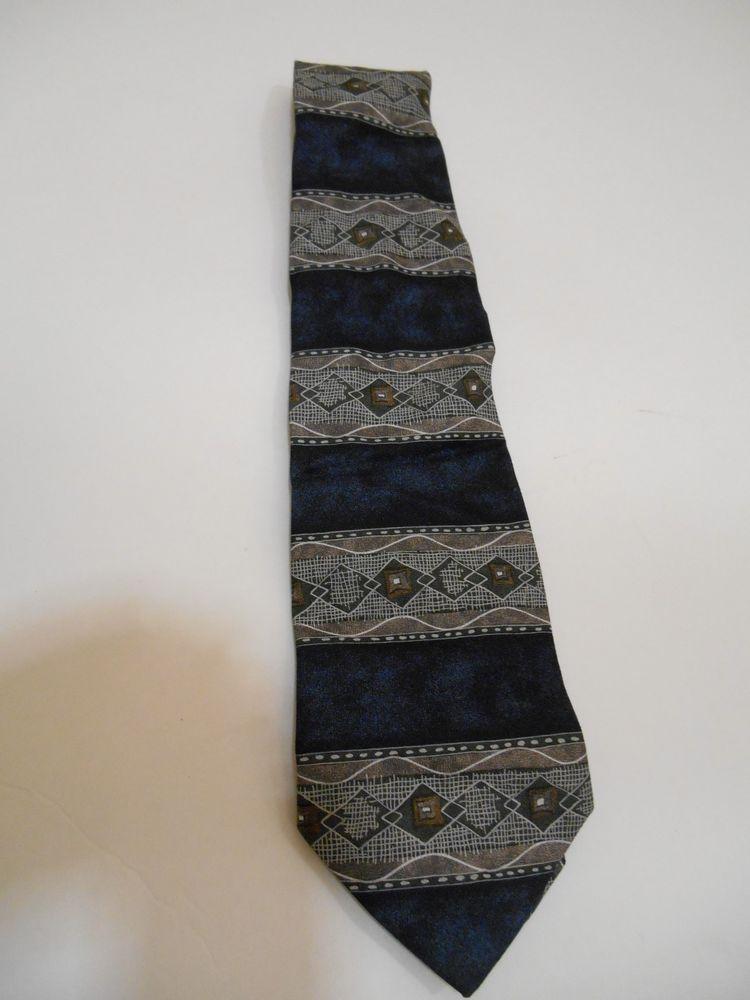 Vintage Hand Made Italian Silk Tie Q8WV5u