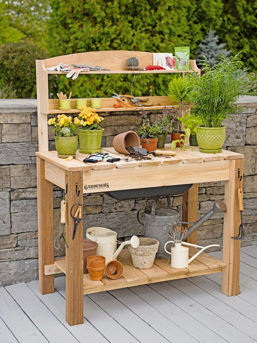 este potting images garden having diy stunning tierra work bench ideas benefit