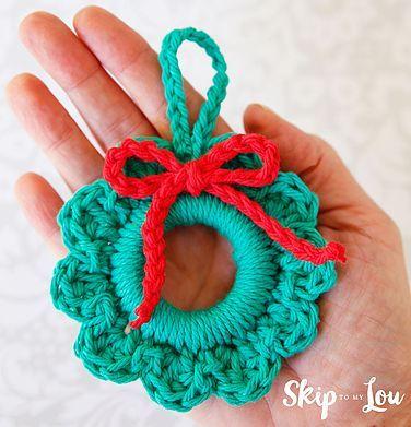 Easy Crochet Wreath Ornament Skip To My Lou Crochet Wreath Easy