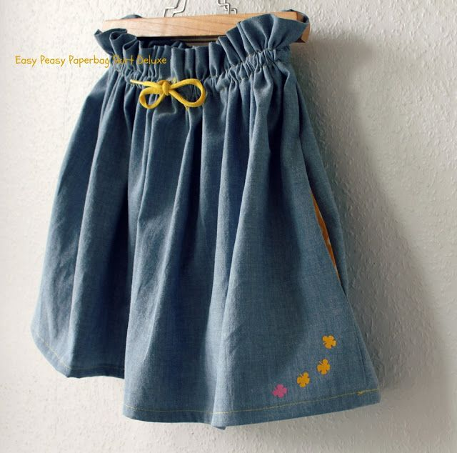 Groovybaby .... and mama: Easy Peasy Paperbag Skirt DIY