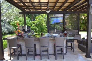 Outdoor Kitchen And Pergola Project In South Florida Outdoor Kitchen Patio Outdoor Kitchen Design