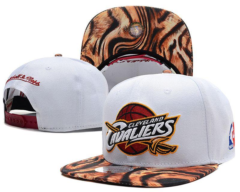 NBA Cleveland Cavaliers White Snapback Hats--sd