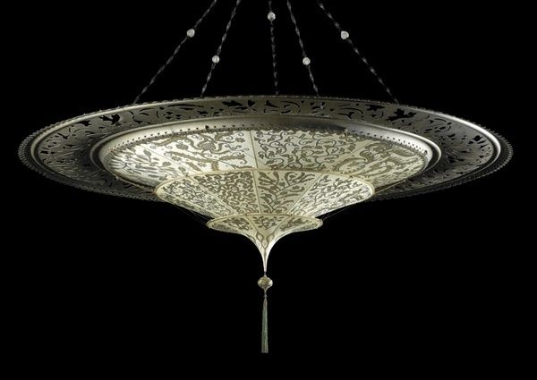Fortuny Scheherazade Metal Ring Chandelier Fortuny Lamp
