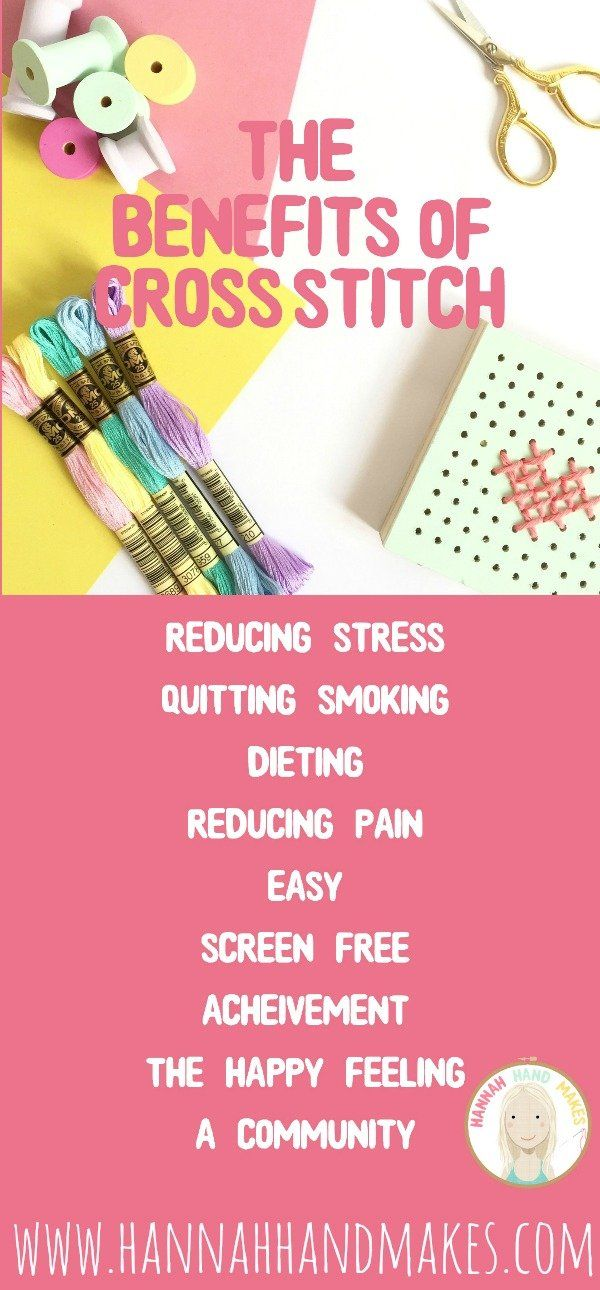 The Benefits Of Cross Stitch | Hannah Hand Makes | Blog +
