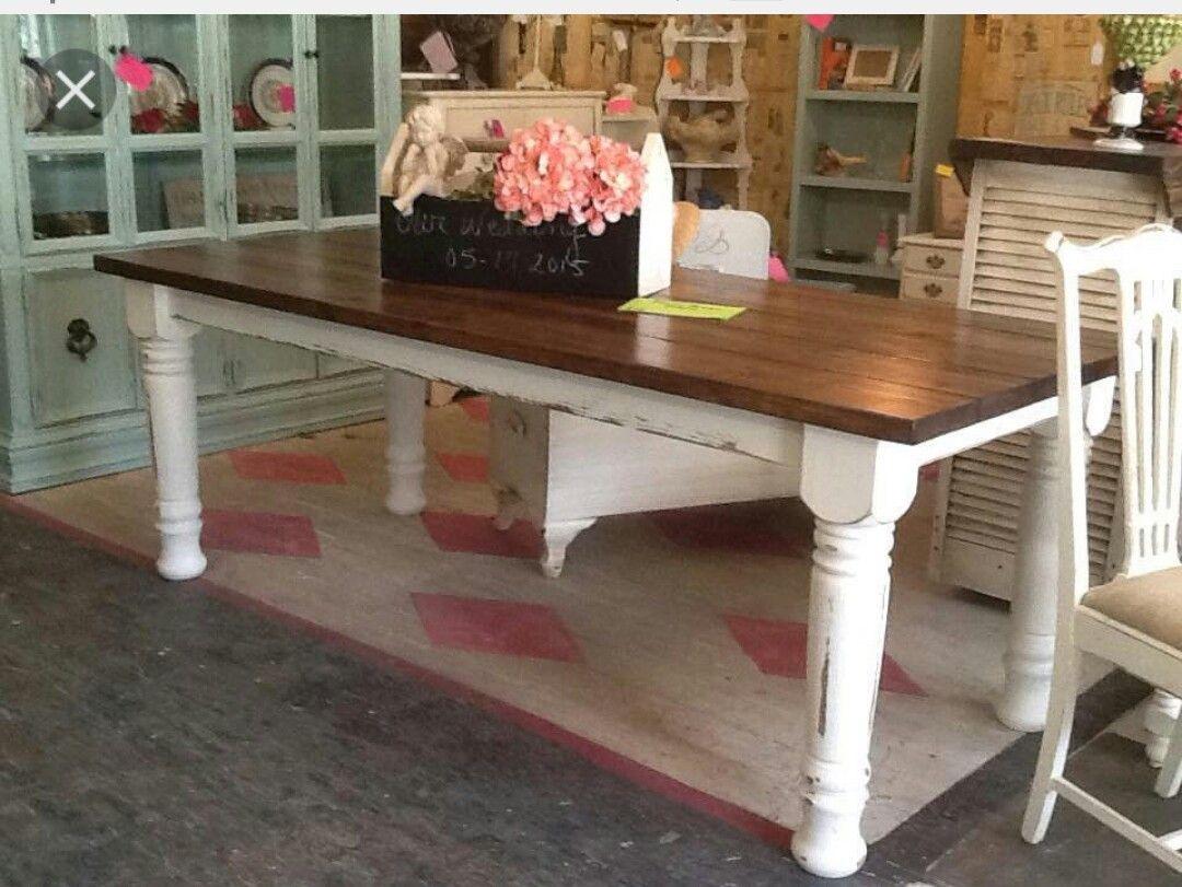 Farmhouse table with chunky legs Farmhouse table, Custom