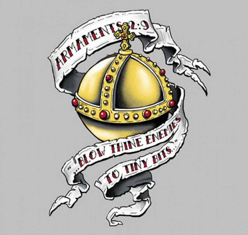 681519f43 Rabbit Of Caebannog Monty Python And The Holy Grail Tattoo Style Men's T- Shirt