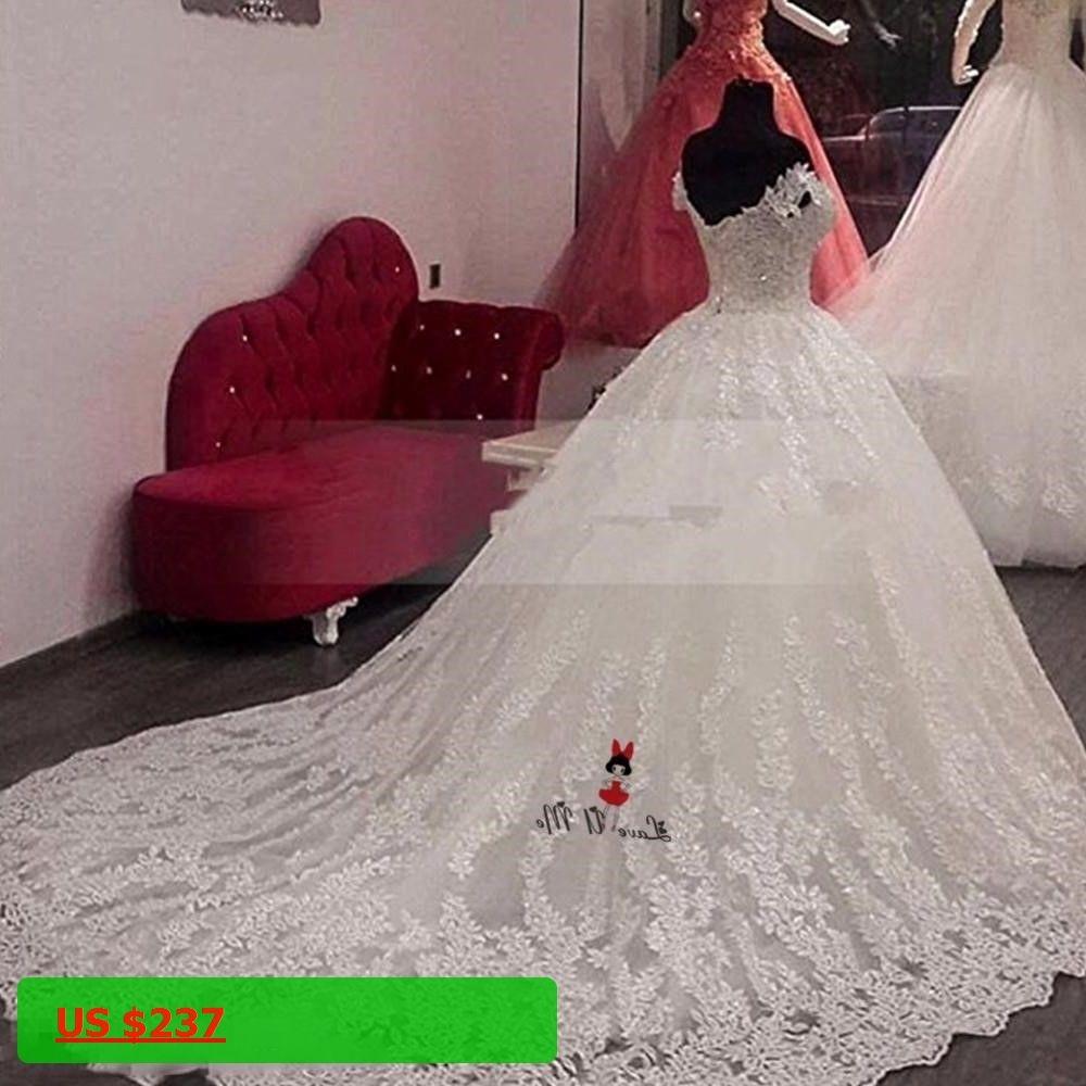 Vestido de noiva renda gorgeous lace wedding dresses ball gown off