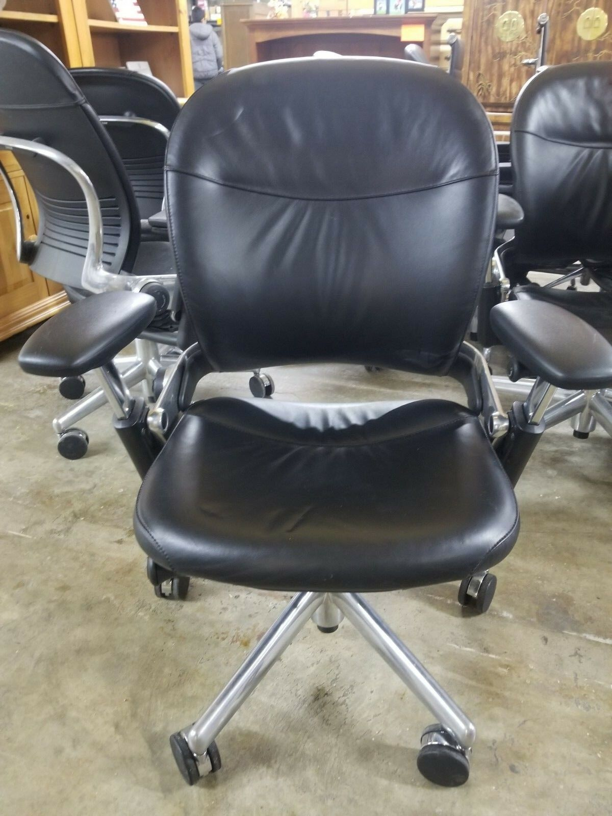 Steelcase Executive Leather Office Chairs Office Chair