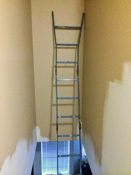 Paint A Tall Hallway Above Stairs