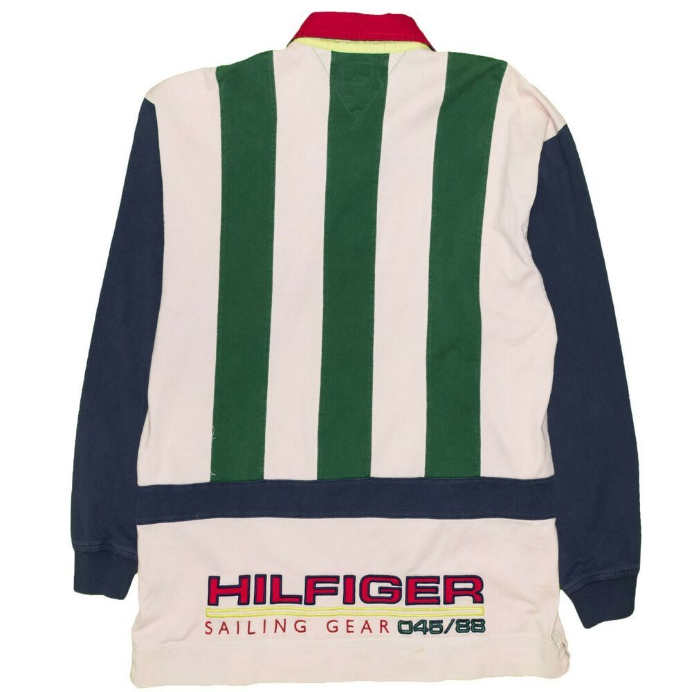 980c5e68 Vintage 1990's Tommy Hilfiger Polo Shirt X-Large Sailing Gear Rugby Color  Block #TommyHilfiger #PoloRugby
