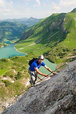 KLettersteig 20 min. Entfernung von der Landsberger Hütte - Tannheim - Tirol