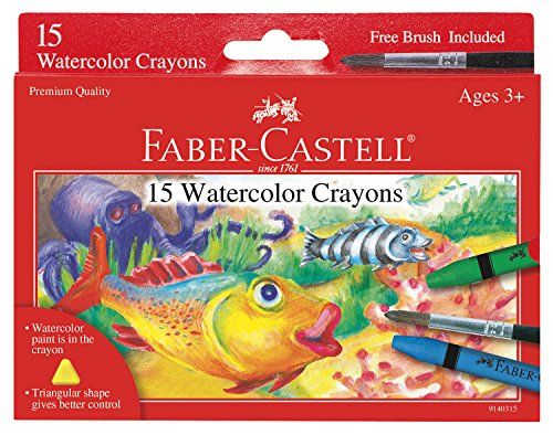 Faber Castell Watercolor Crayons With Brush 15 Colors Https