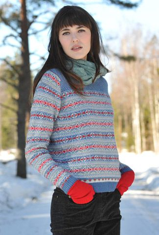 Cashmere Fair Isle Jumper... I want to cross-country ski in THIS ...