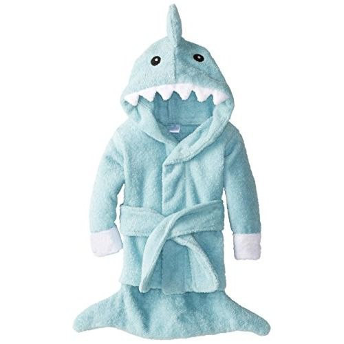 Baby bathrobe. Happy Shark Week! #bigbabybasketsweeps