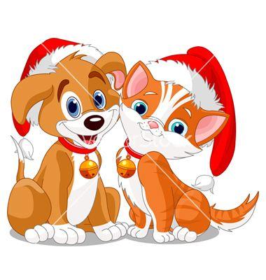 Christmas Dog Vector Image On With Images Merry Christmas Dog