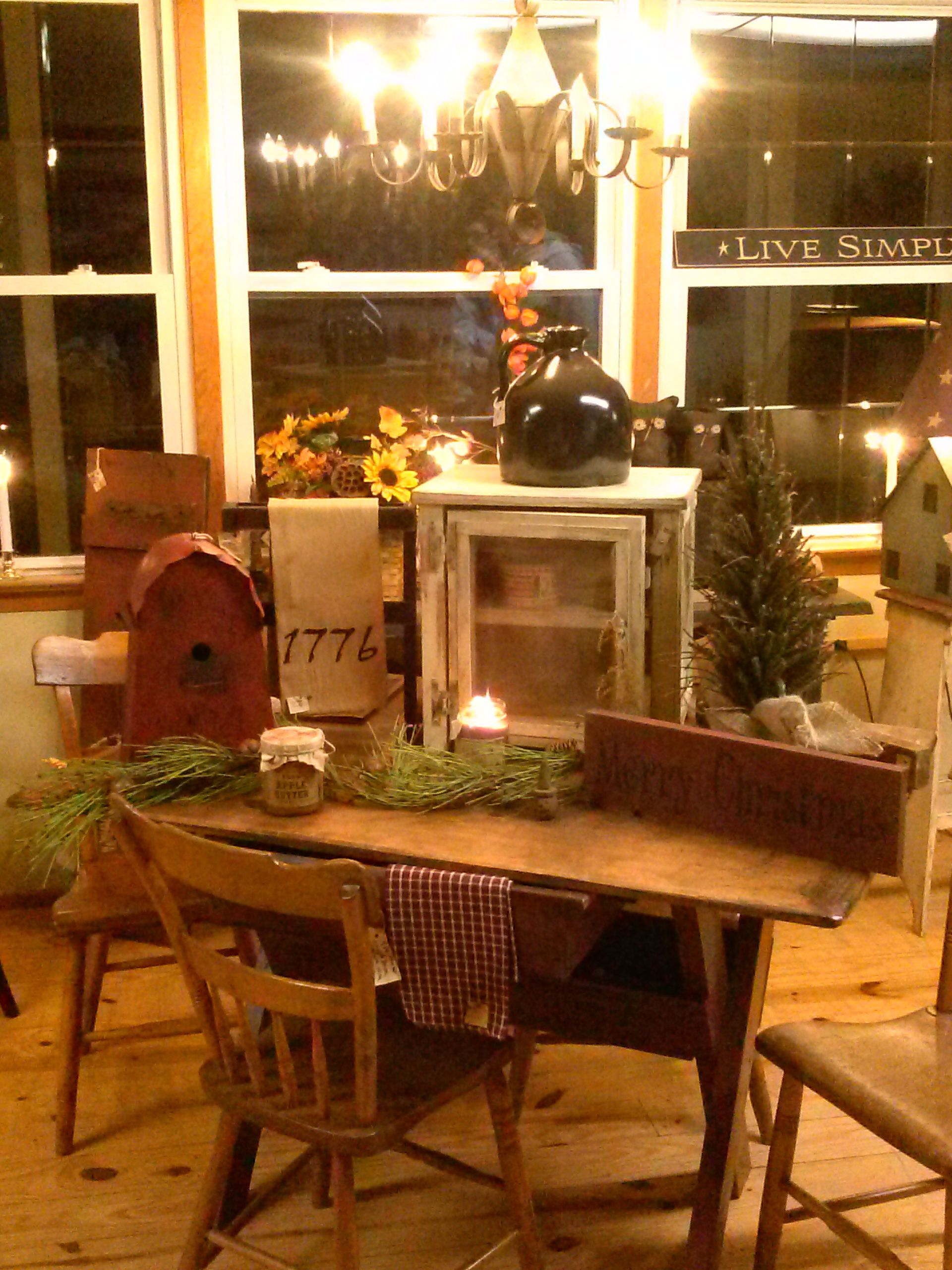 primitive furniture and old wares , shop online or our