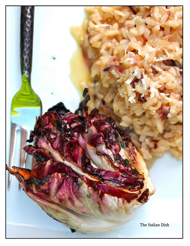 Radicchio Risotto with Grilled Radicchio. Not sure how the flavors combined will go. But I'm intrigued.