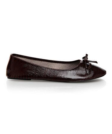 Take a look at this Maroon Lizard Ballet Flat by Vecceli Italy on #zulily today!