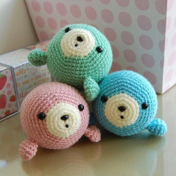 Little Seal Gurumi Crochet Pattern | Amigurumis | Pinterest ...
