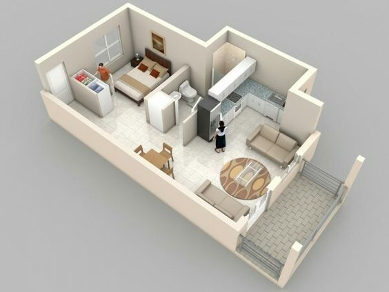 Pin by 창호 이 on 원룸 Pinterest Tiny living, Common ground and - Apartment House Plans
