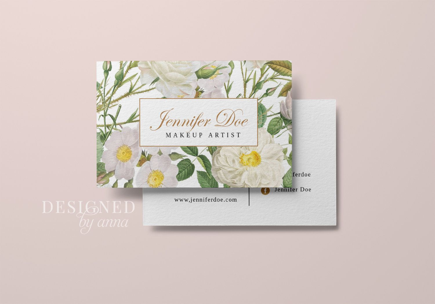Floral Business Card Design Printable Business Card Template Etsy Floral Business Cards Printable Business Cards Business Card Design