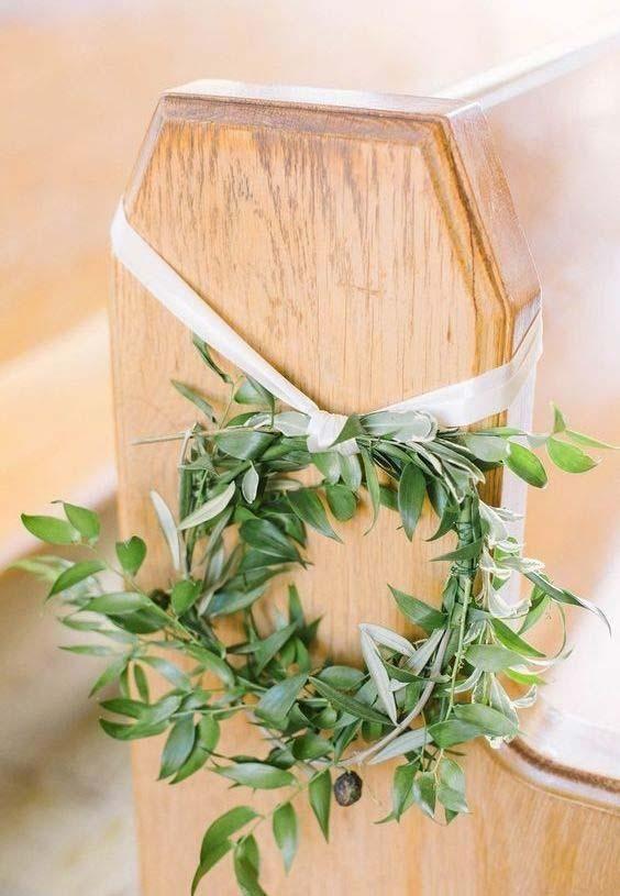 Church Decor für Hochzeit: 60 kreative Ideen inspiriert zu werden - Saines #decorationeglise