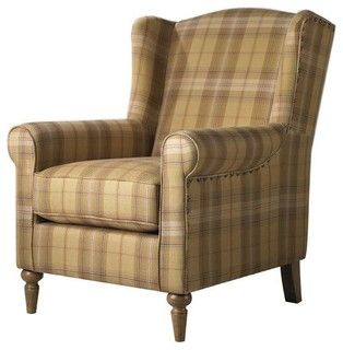 Collins Wingback Chair Brown/Tan Plaid - traditional - armchairs - by Home Decorators Collection  sc 1 st  Pinterest & Collins Wingback Chair Brown/Tan Plaid - traditional - armchairs ...