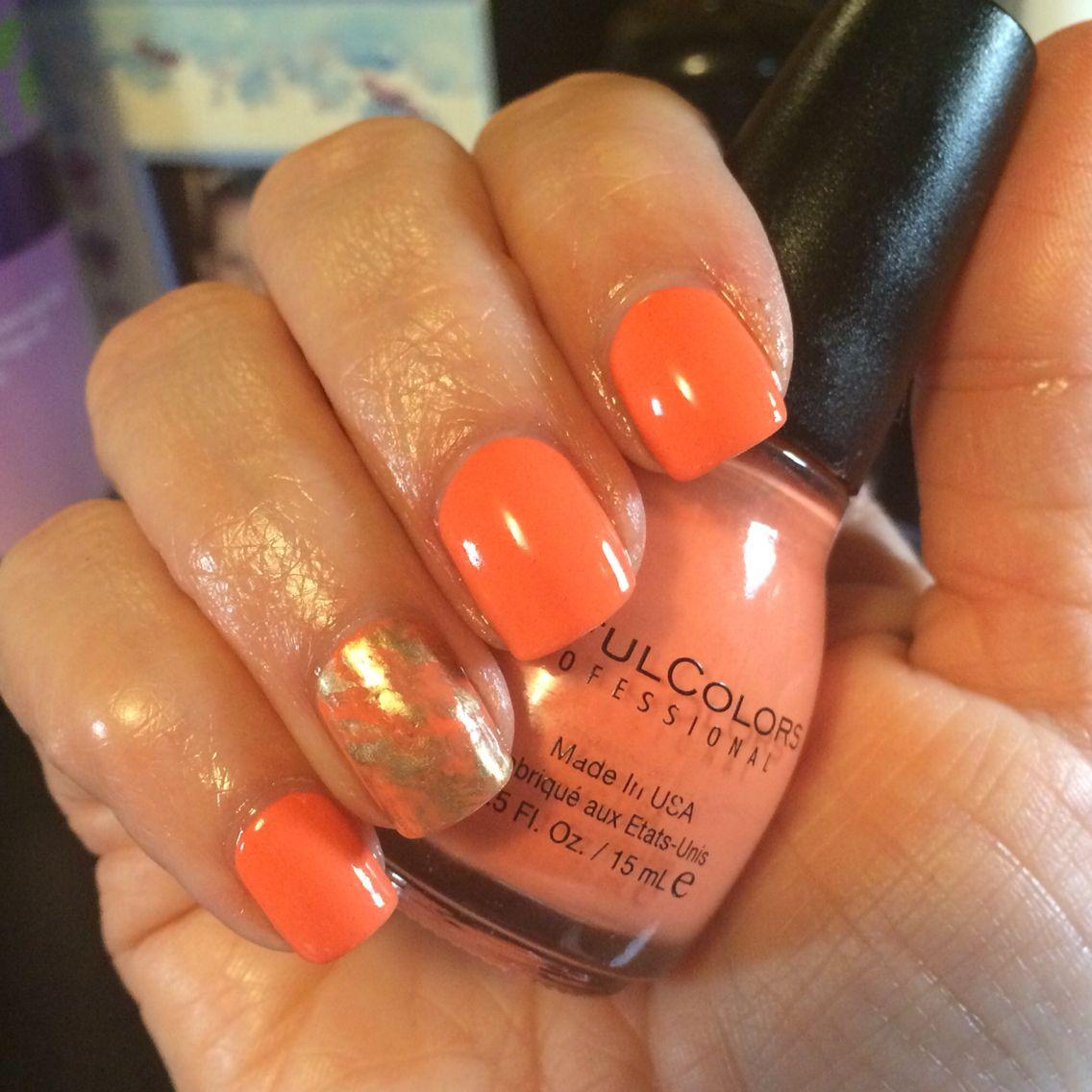 Peachy-orange & gold