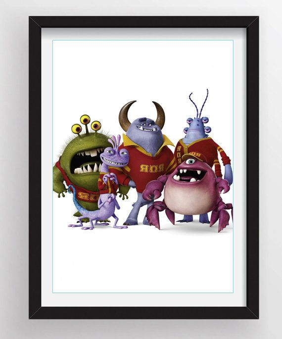 Girls 3 Monsters University  11X17 Mini Posters by BackRoadTees