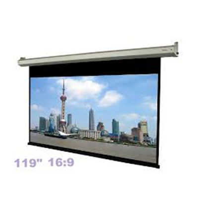 Motorized Projector Screen >> Type: - projector Screen, Size