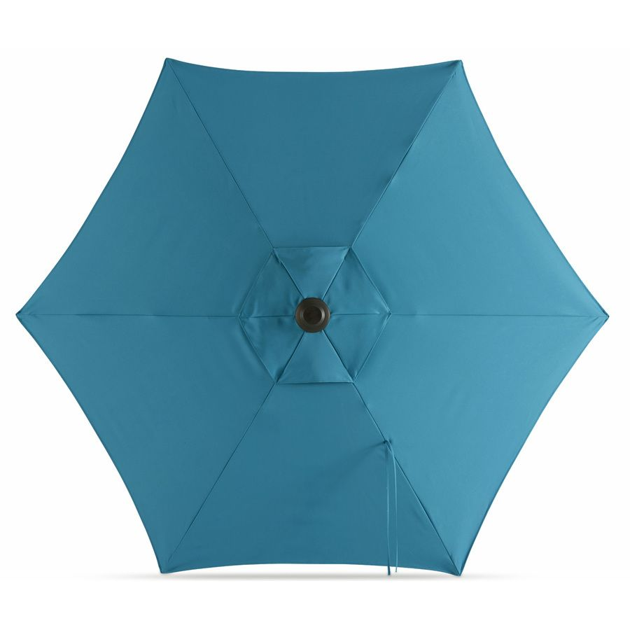 Garden Treasures Solid Blue Market Patio Umbrella (Common: 7.5-ft W x 7.5-ft L; Actual: 7.46-ft W x 7.34-ft L)