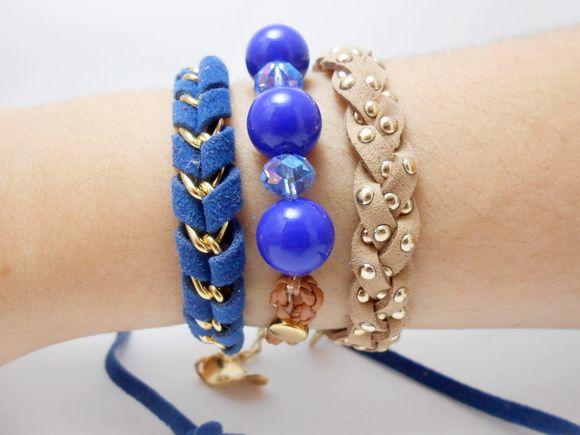 Bracelete Pulseiras Azul da Moda