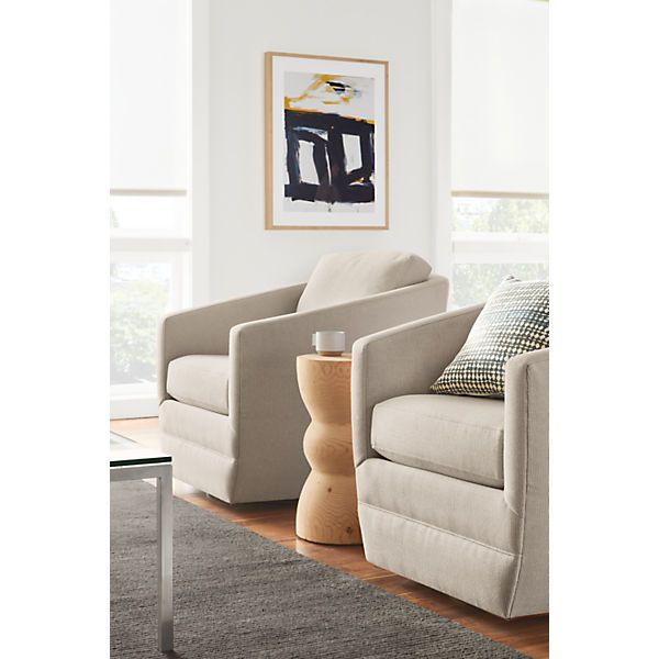 Ford Swivel Chair In Kellen Fabric   Modern Accent U0026 Lounge Chairs   Modern  Living Room