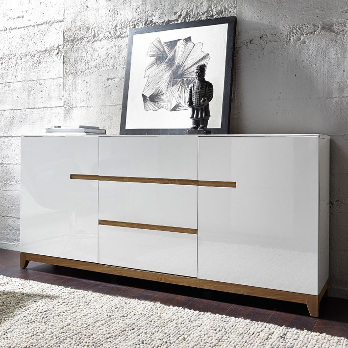 buffet scandinave blanc laque matri d co pinterest. Black Bedroom Furniture Sets. Home Design Ideas