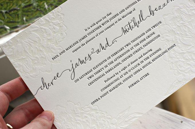 Wedding Invitations Sydney: Cheree + Mitchell Sydney Opera