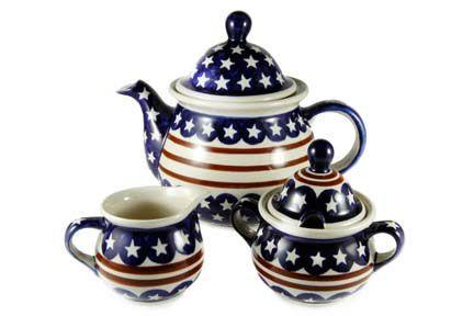 Stars & Stripes Three Piece Tea Set