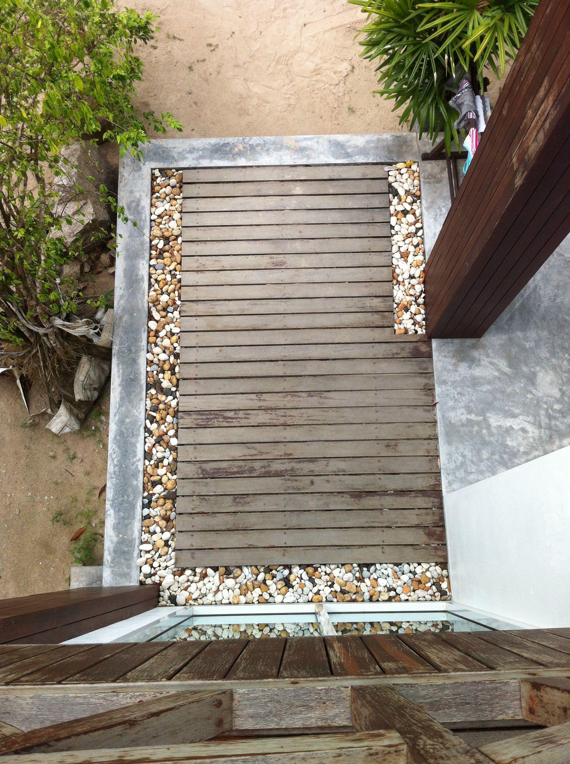 trädäck på betong