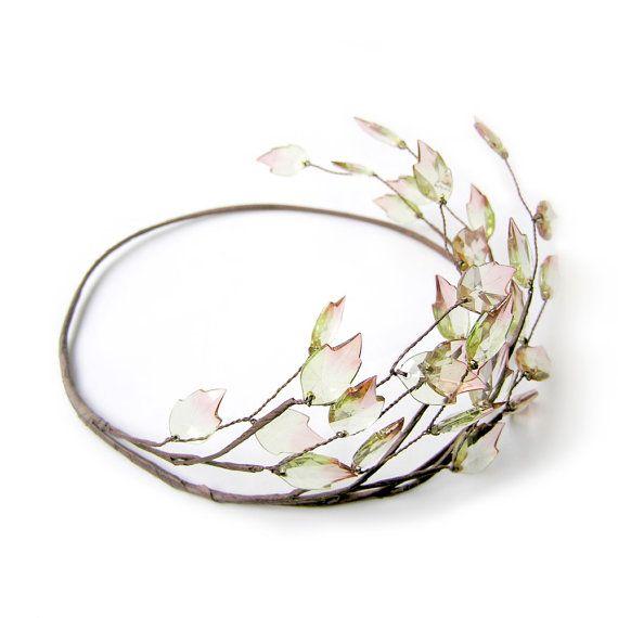 Leaf Crown, Rustic Wedding Leaf Tiara, Bridal Hair Accessory, Spring Hair Accessories, Grecian, Halo #flowerheadwreaths