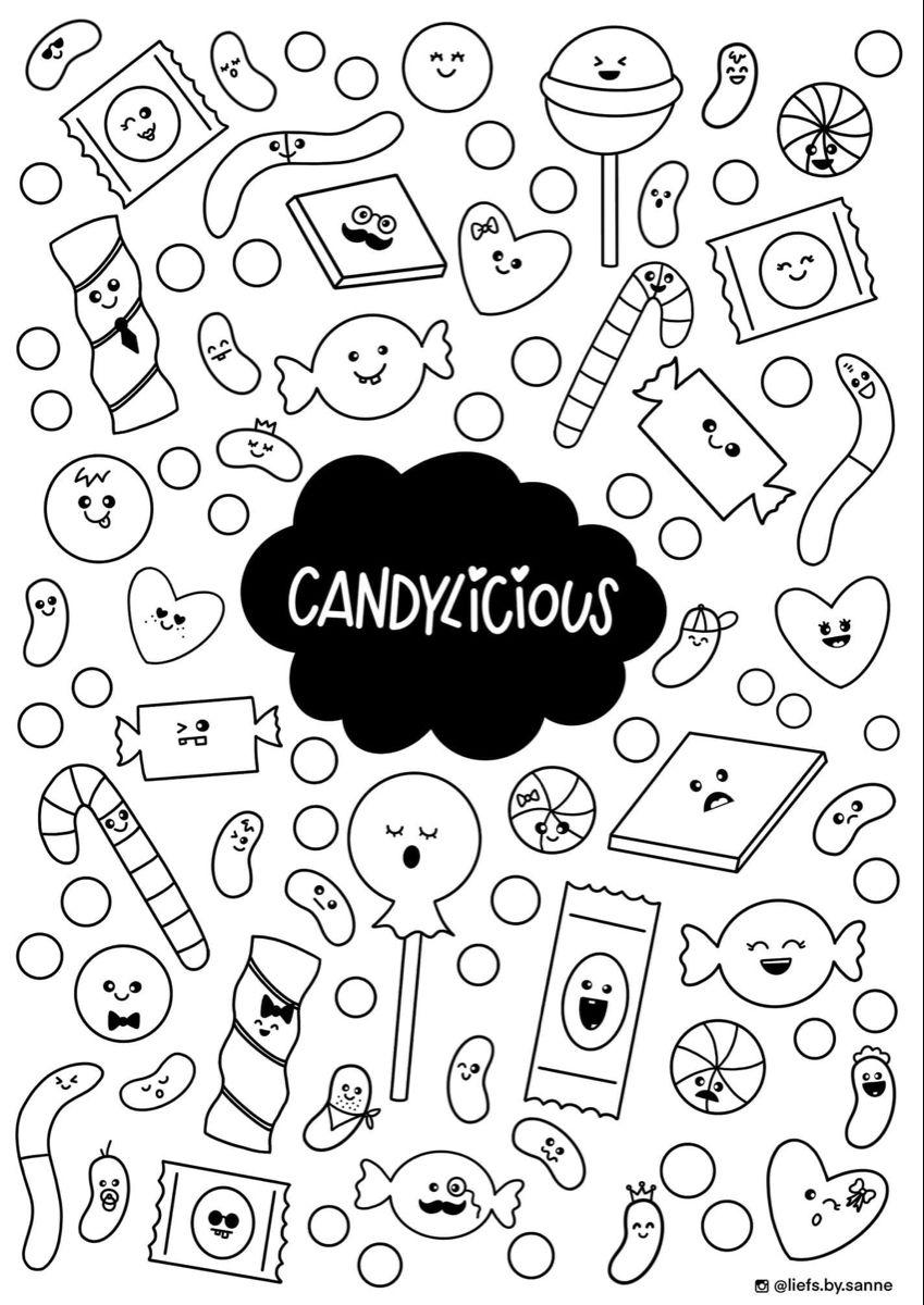 Candylicious Kleurplaten Afdrukken Knutselen